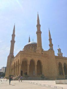 A imponente Mesquita Mohammed Al Amin, em Beirute