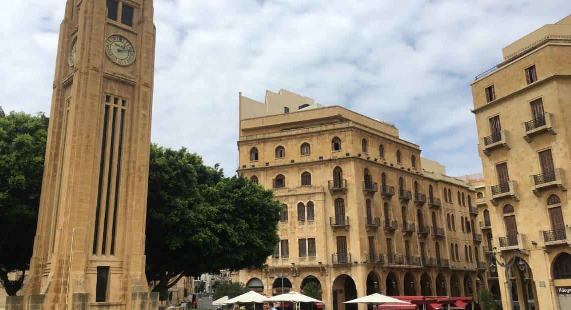 Praça da Estrela, em Beirute, no Líbano
