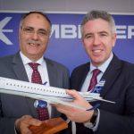 Executivos da Ciaf (esq.) e da Embraer