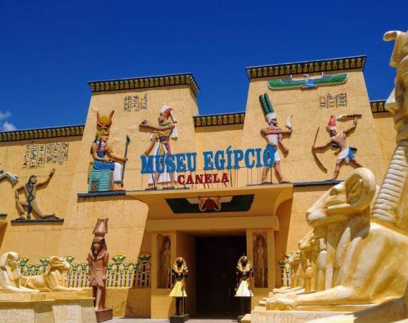 Fachada do Museu Egípcio em Canela