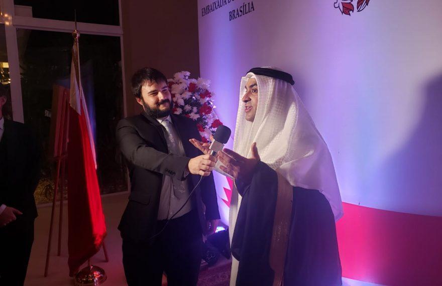 O encarregado de negócios da embaixada do Bahrein, Bader Al-Hulaibi