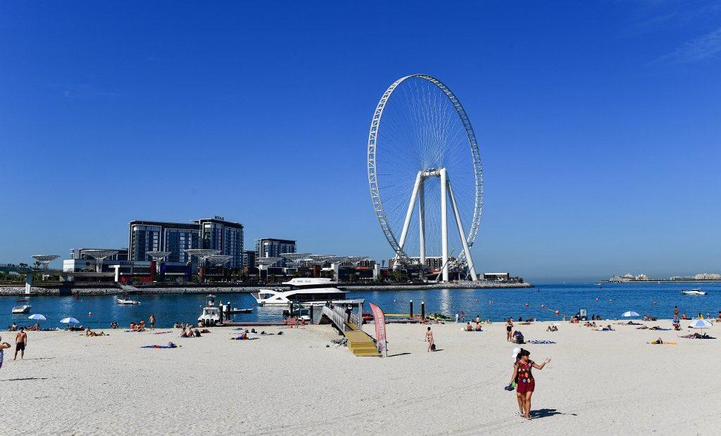 Vista da roda gigante Ain Dubai