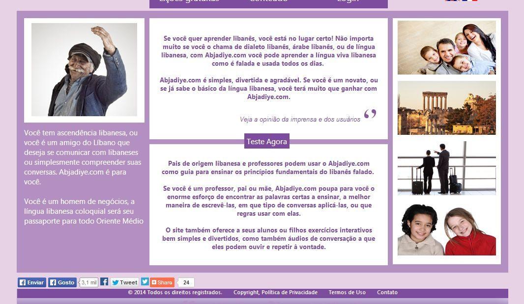 Site Em Português Ajuda A Aprender árabe Do Líbano Agência De